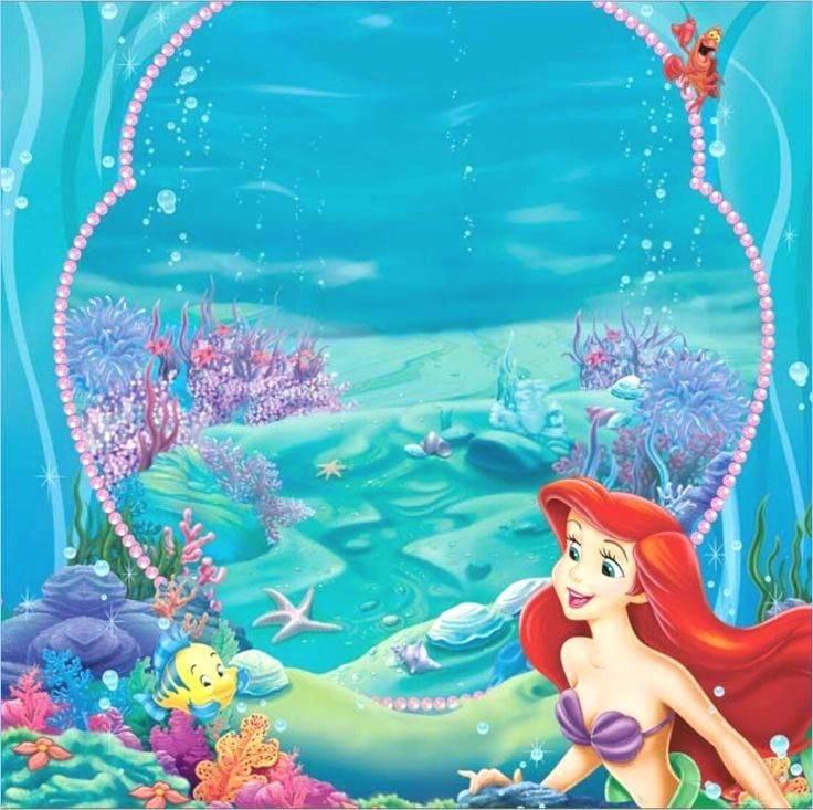 Little Mermaid Birthday Invitation Template