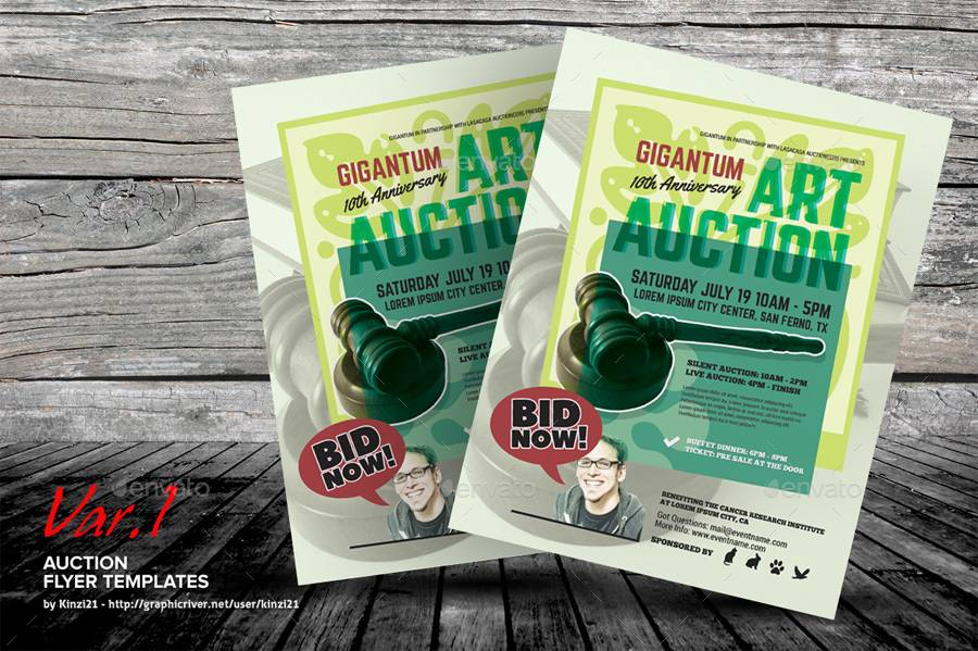 Live Auction Flyer Template