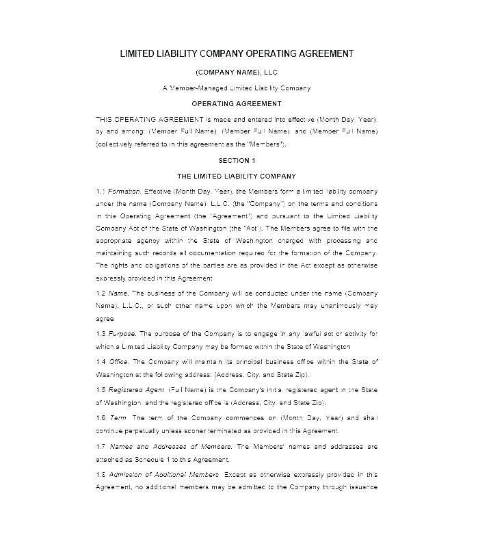 Llc Shareholder Agreement Template