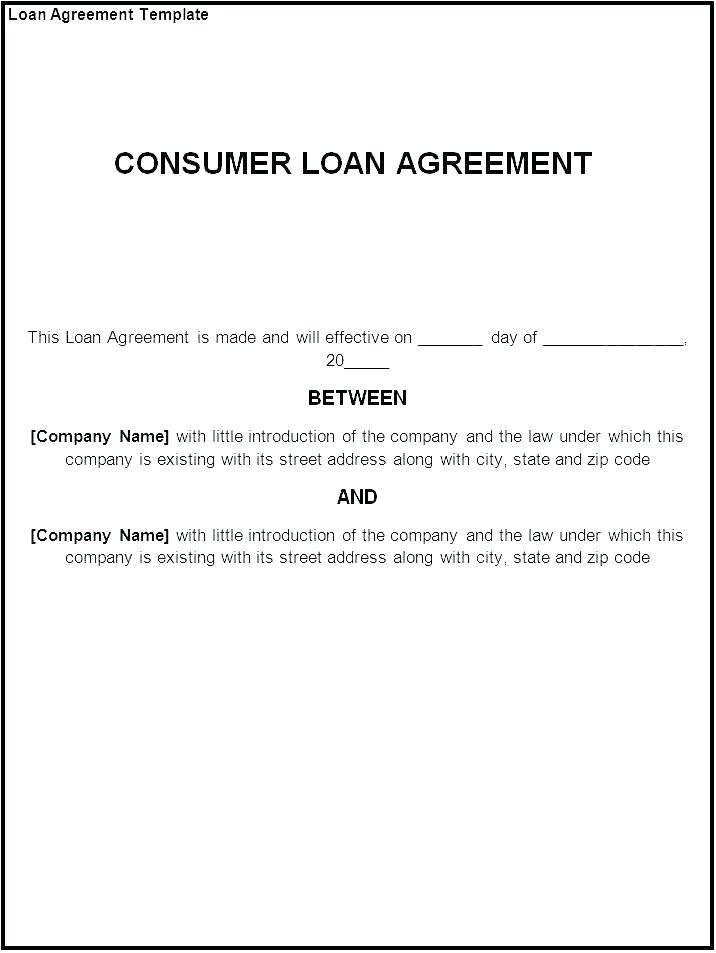 Loan Agreement Template Ireland