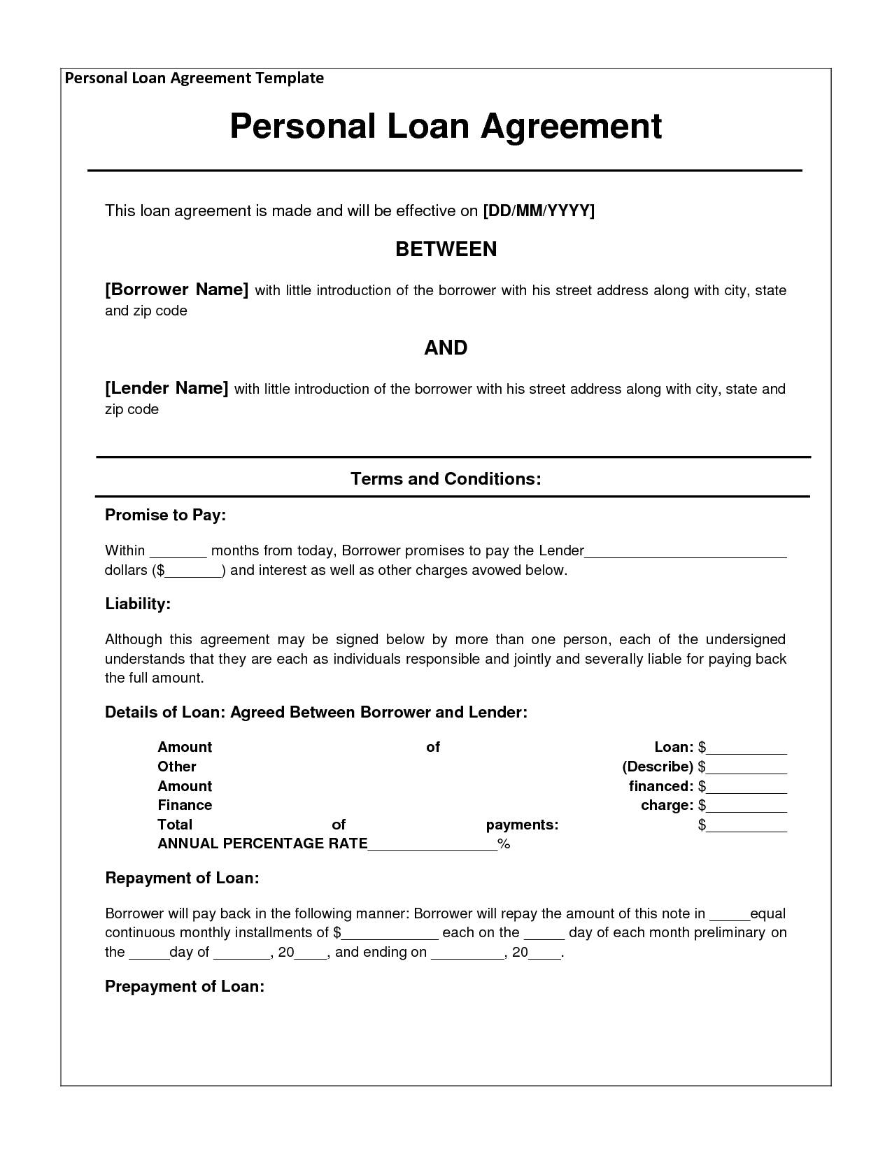 Loan Contract Template Uk