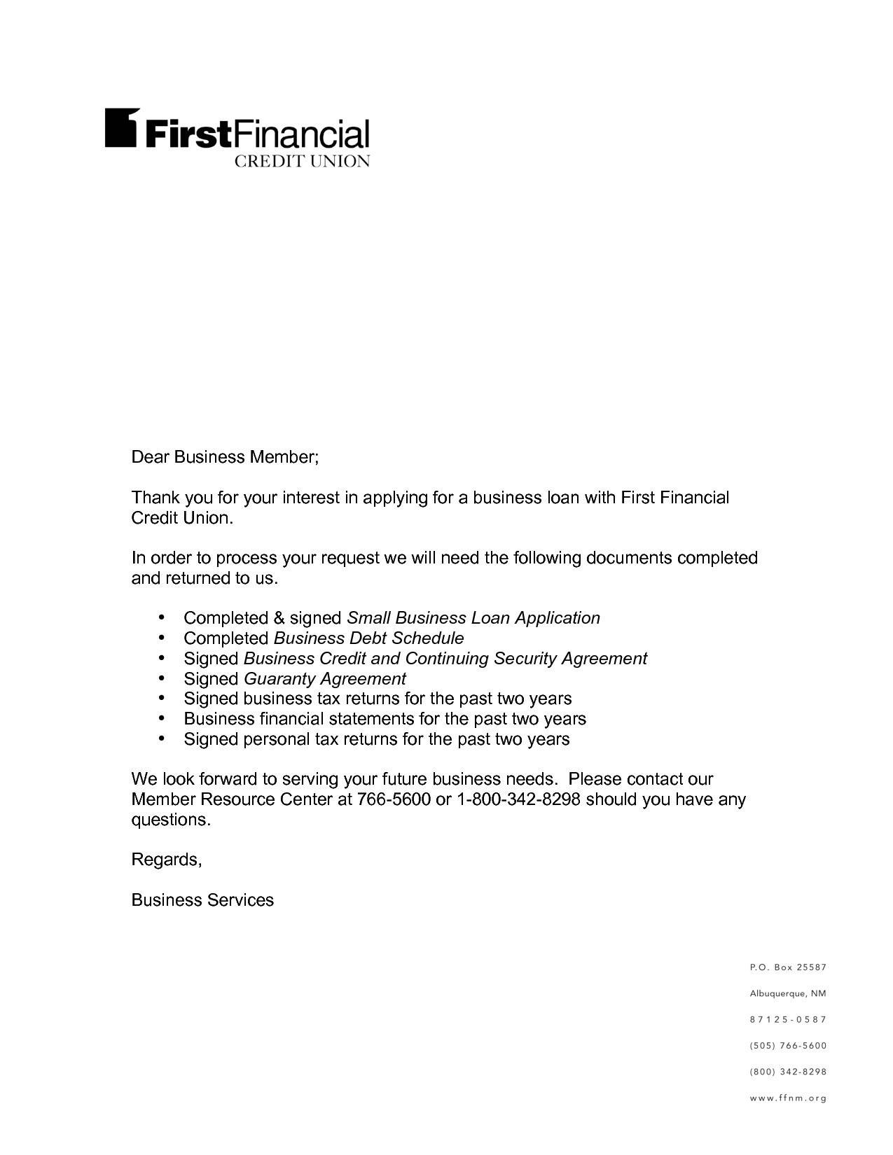 Loan Request Proposal Template