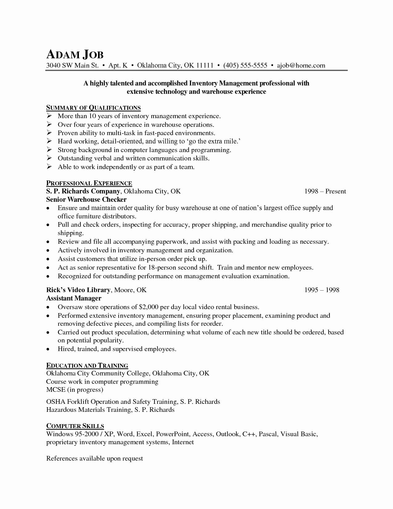 Logistics Manager Resume Template - Resumes #495 | Resume