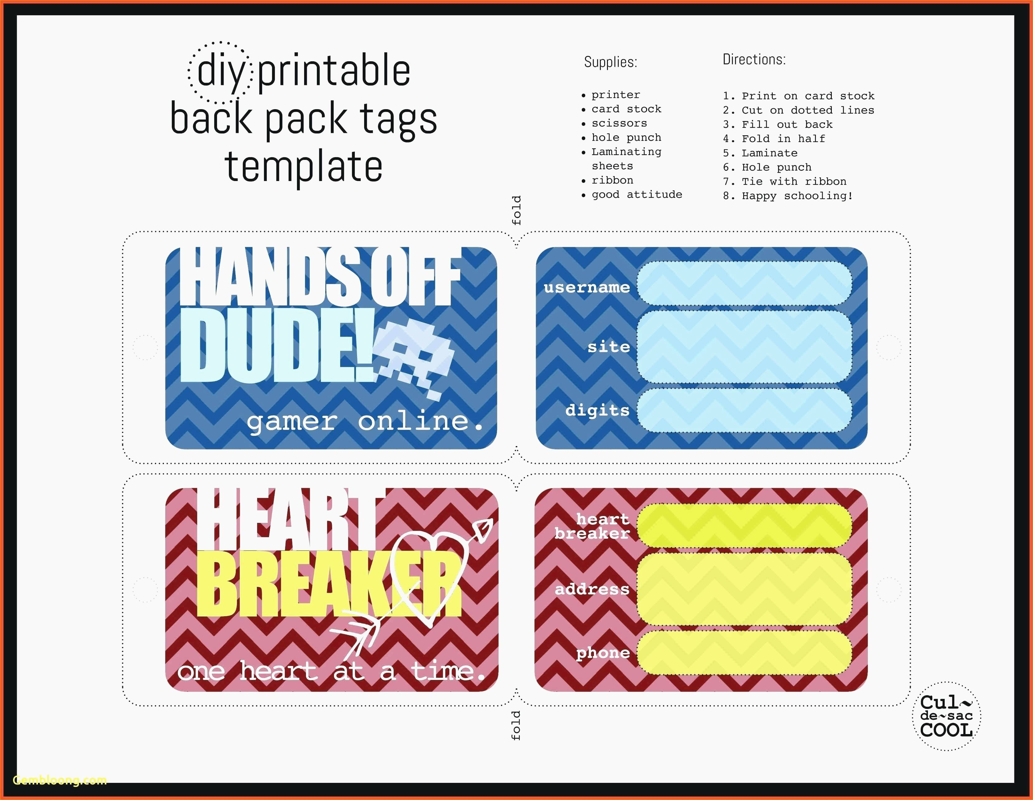 image relating to Printable Luggage Tag called Printable Bags Tag Template - Templates #MTI0NzM0
