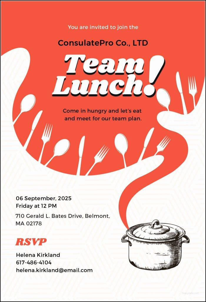 Business Lunch Invitation Template - Templates #41622