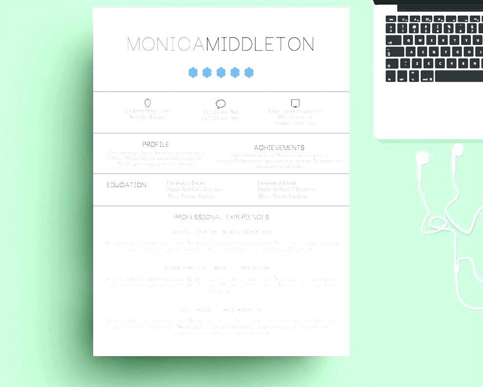 Macbook Resume Templates