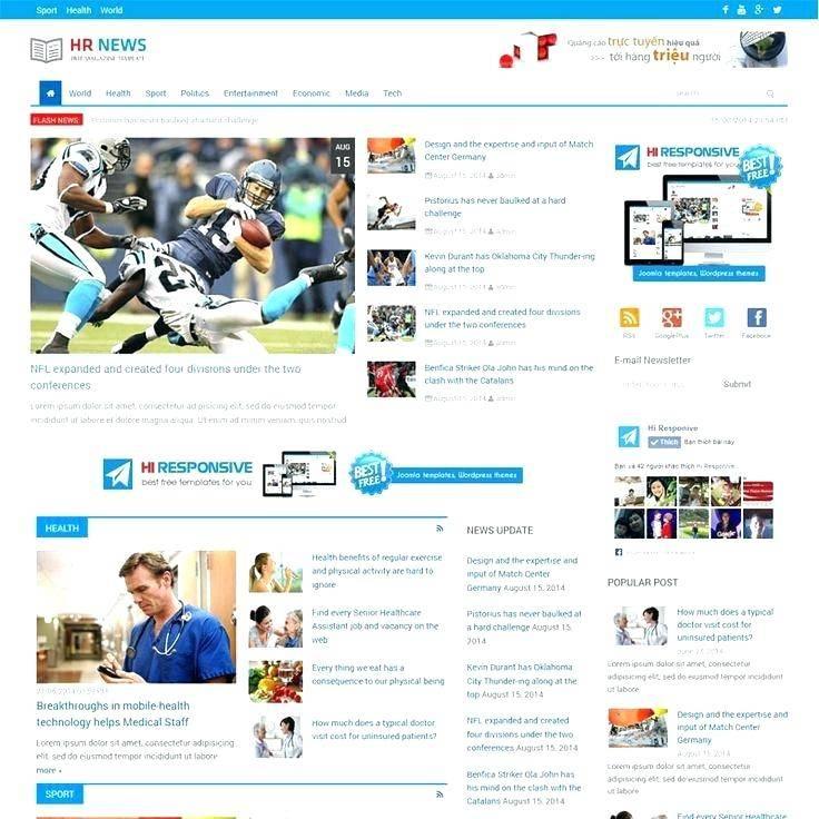 Magazine Website Template Wordpress Free