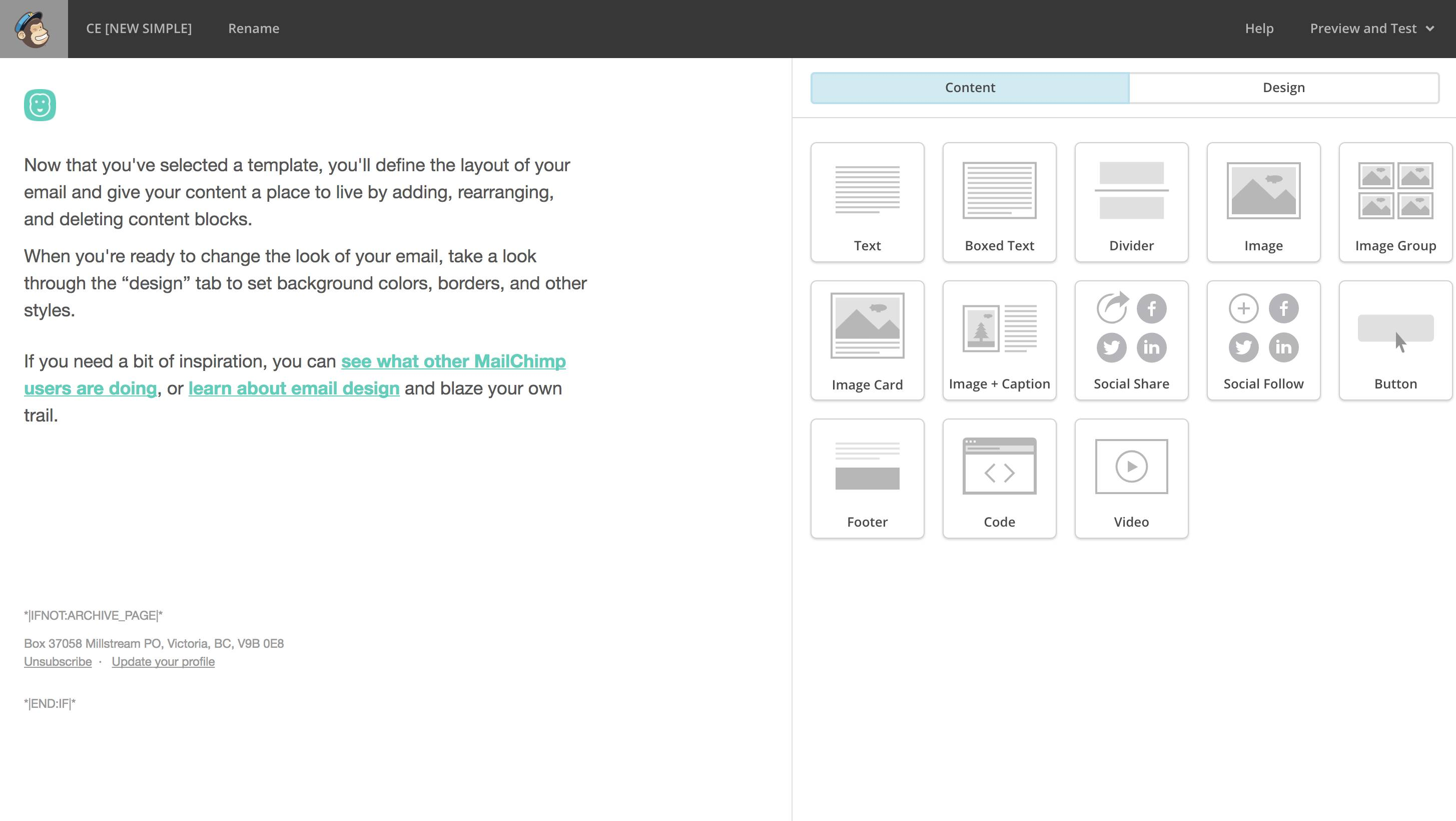 Mailchimp Custom Template With Drag And Drop