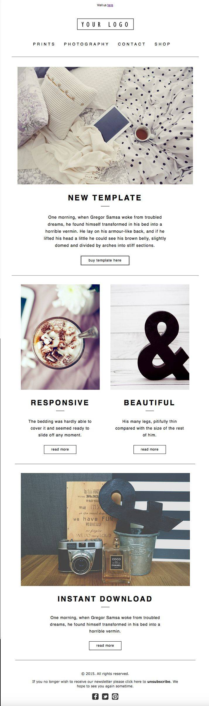 Mailchimp Newsletter Template Design