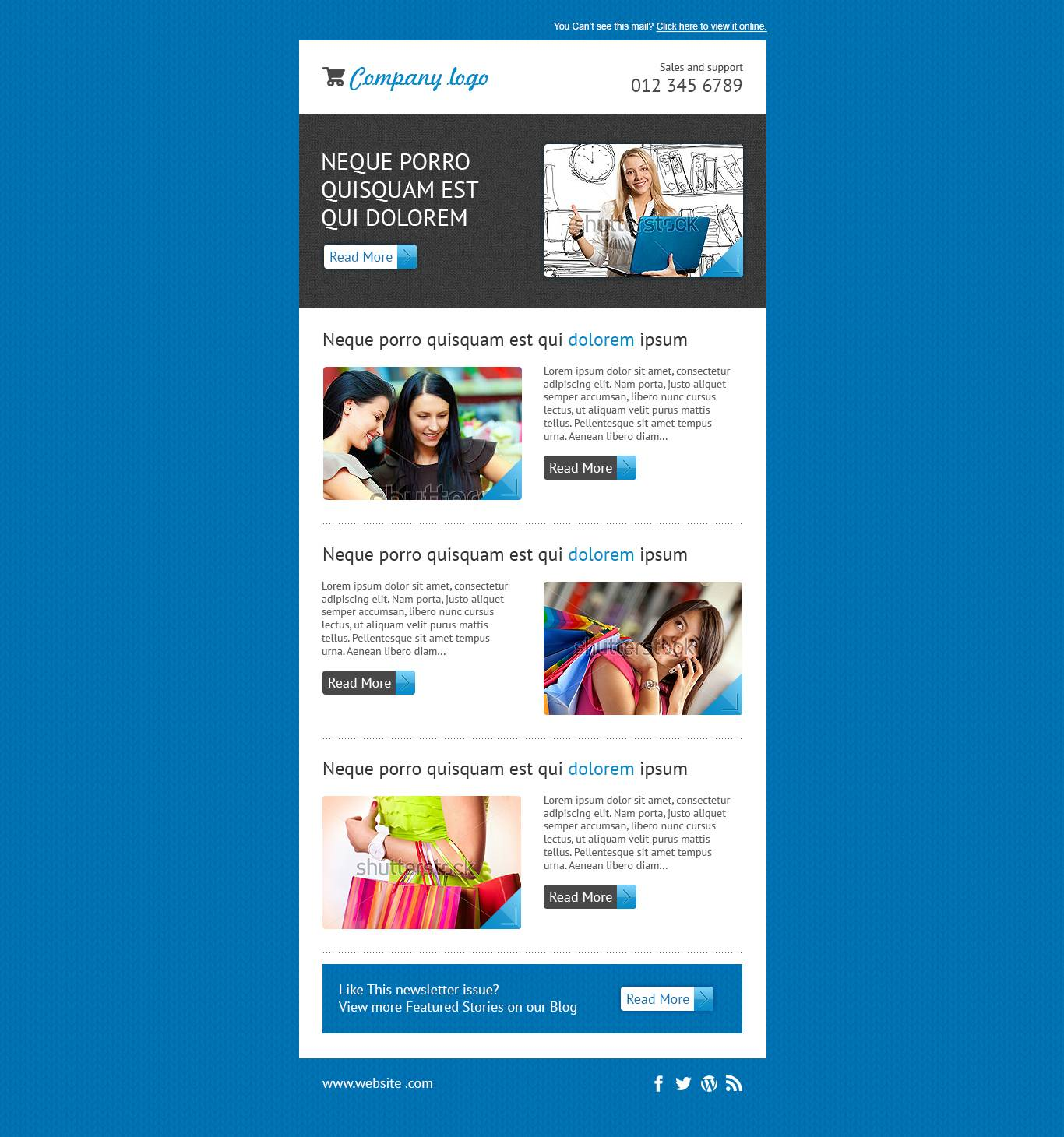 Mailchimp Responsive Email Newsletter Templates