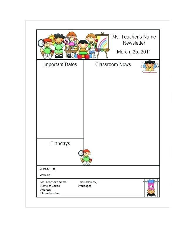March Newsletter Template Free