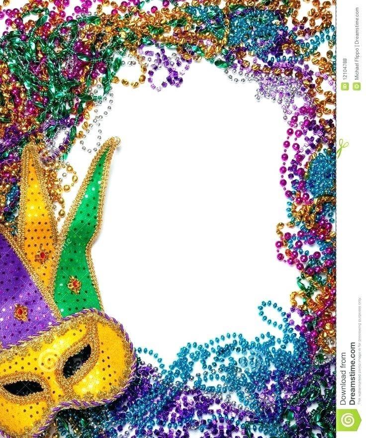 Mardi Gras Invitation Template Free