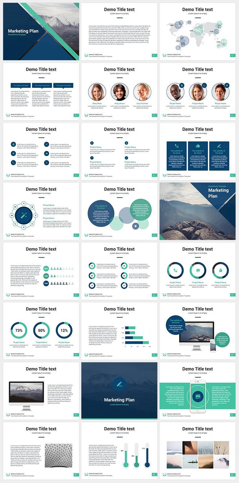 Marketing Plan Powerpoint Template Free Download