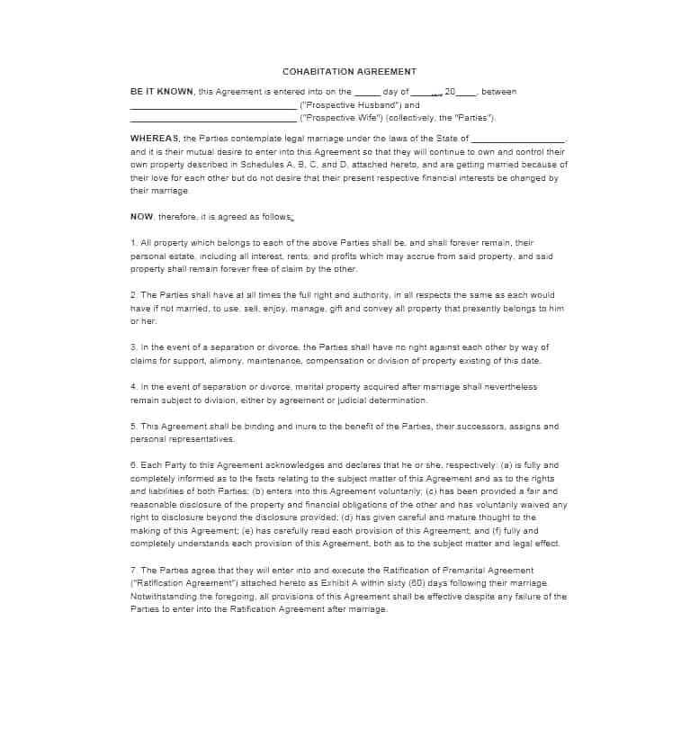 Marriage Contracts Templates
