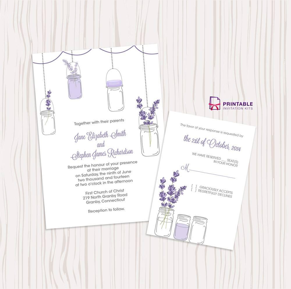 Mason Jar Wedding Invitation Templates