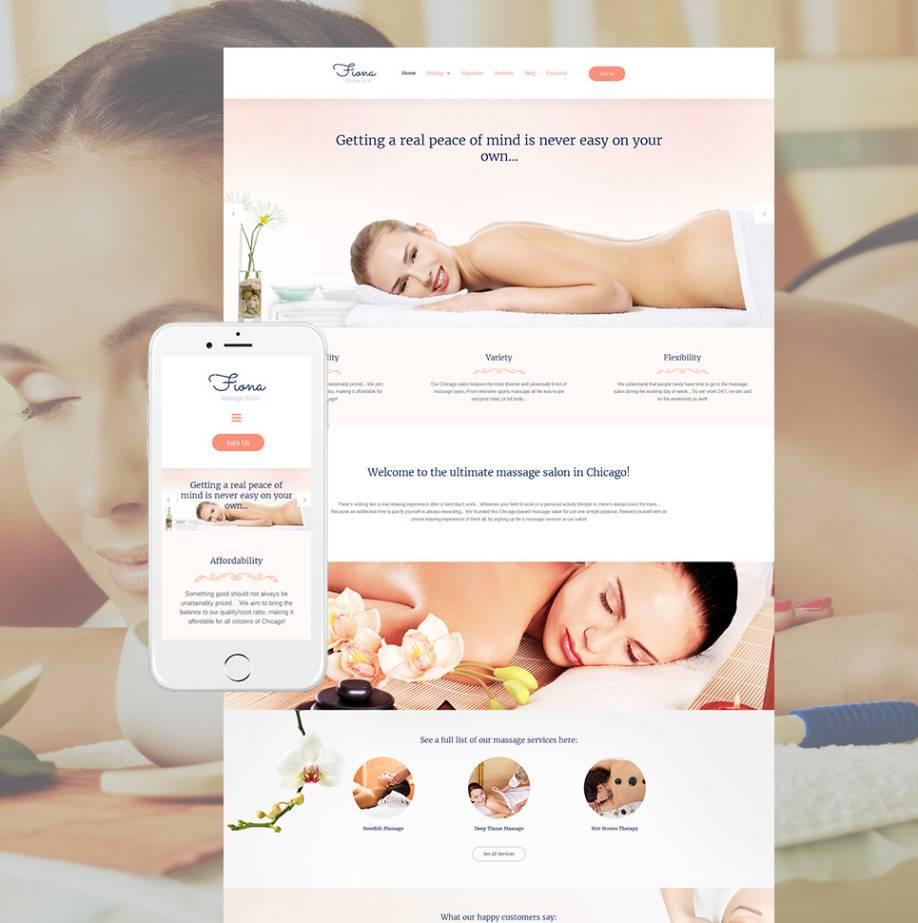 Massage Therapy Website Design