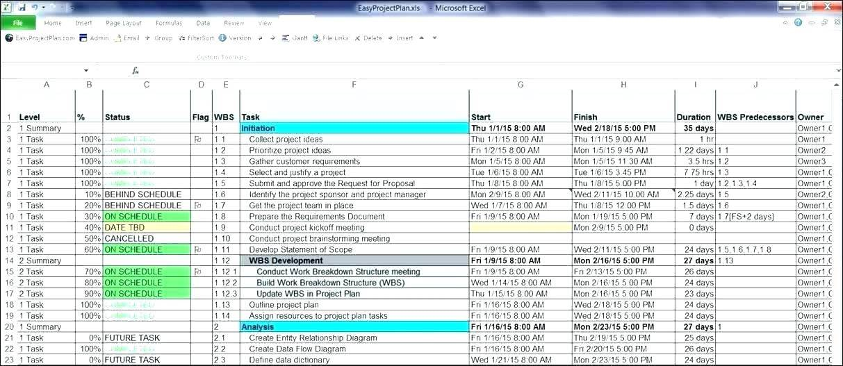 Master Production Schedule Example Excel