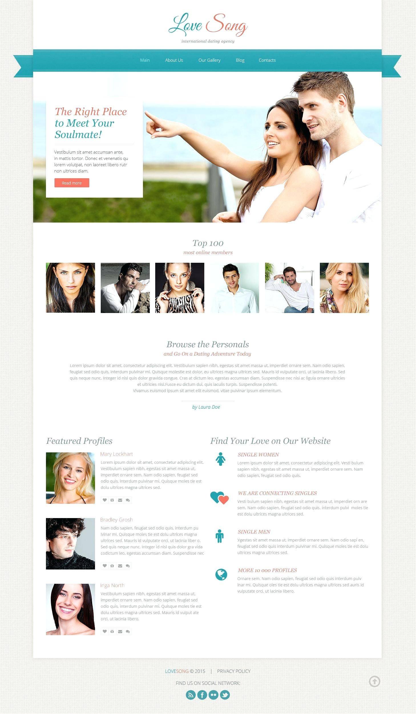 Matchmaking Website Templates Free Download