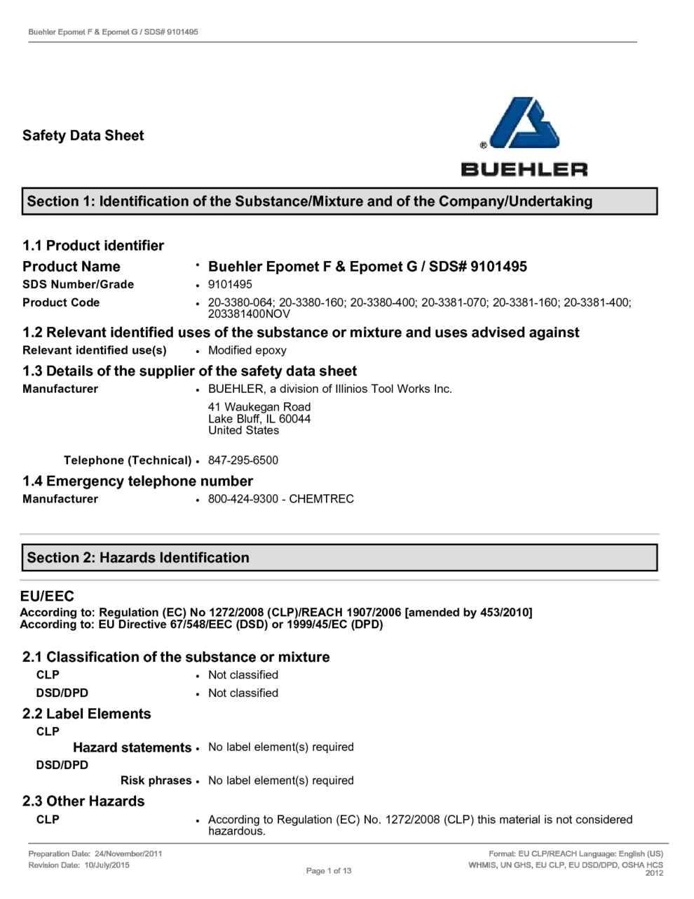 Material Safety Data Sheet Template - Templates #115732