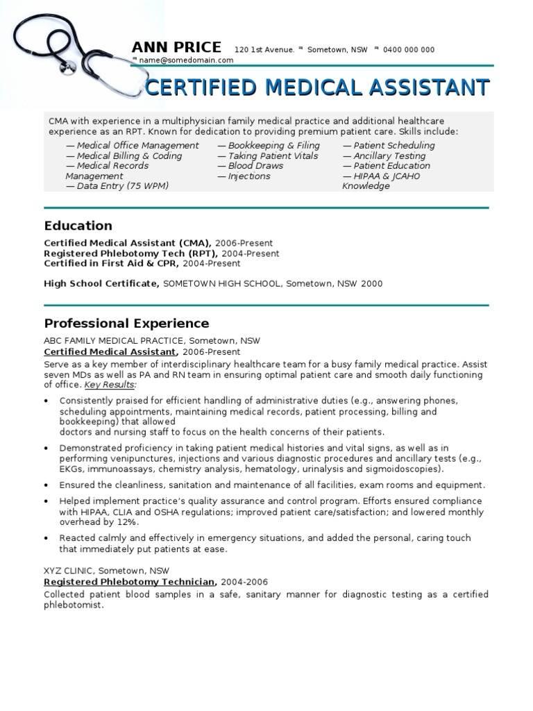 Medical Assistant Cv Template Templates Mte2mtq4 Resume