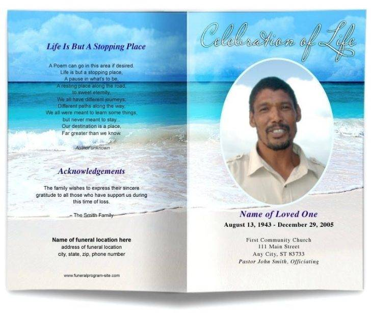 Memorial Order Of Service Template Free