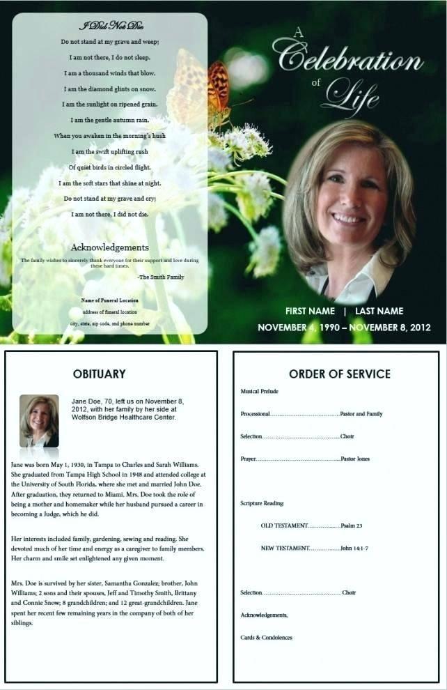 Memorial Programs Template Free