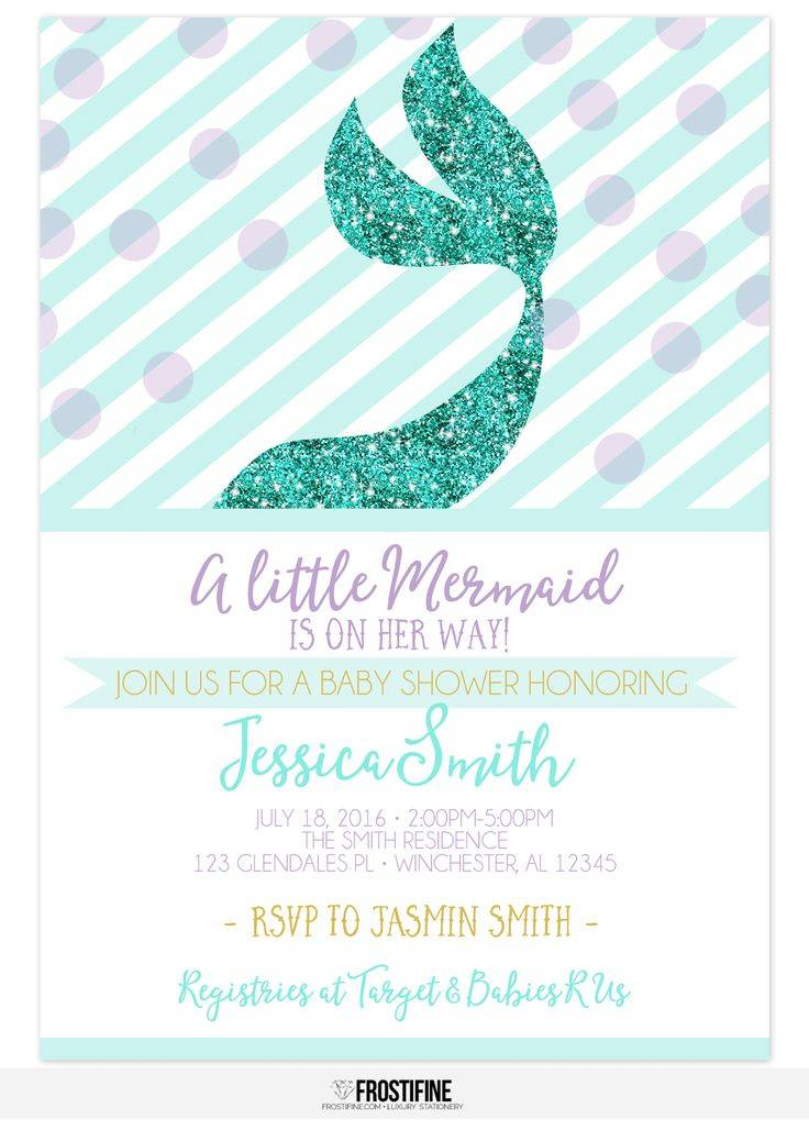 Mermaid Baby Shower Invitation Template