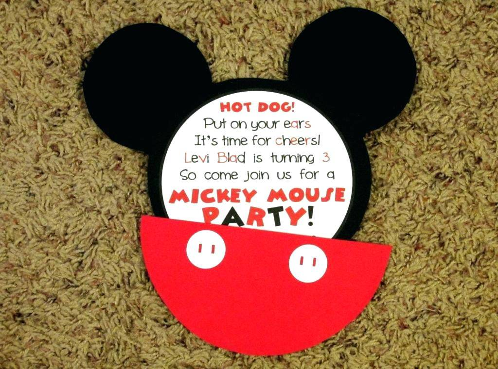 Mickey Mouse Birthday Party Invitations Free Templates