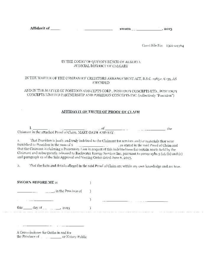 Microsoft Word Affidavit Template