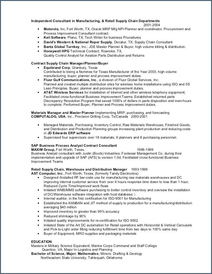 Military Resume Templates Word