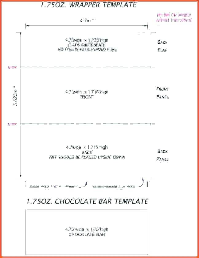 Mini Hershey Candy Wrapper Template