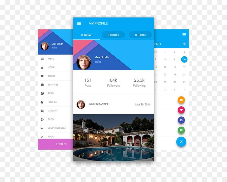 Mobile App Responsive Design Template
