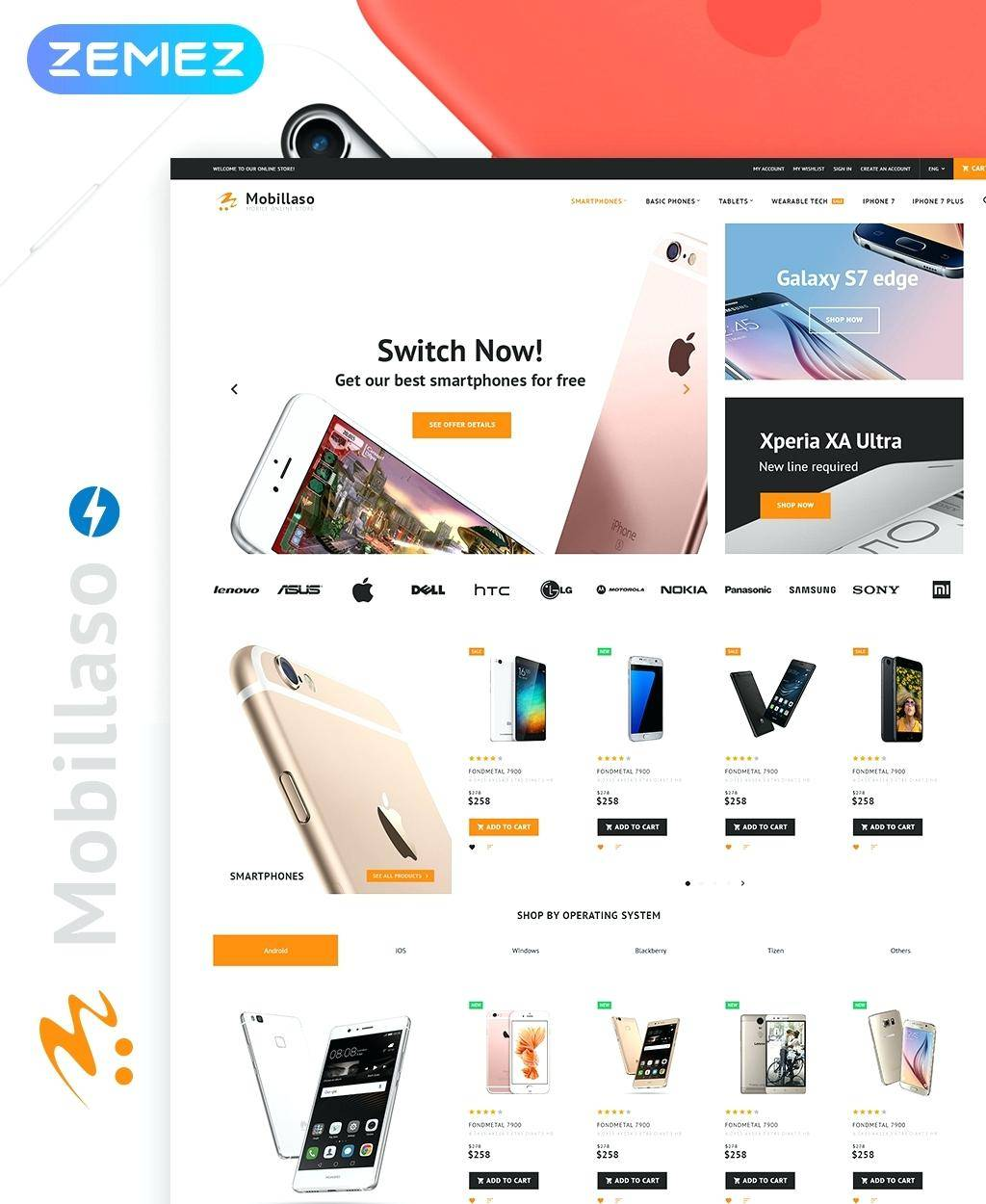 Mobile First Responsive Web Design Template