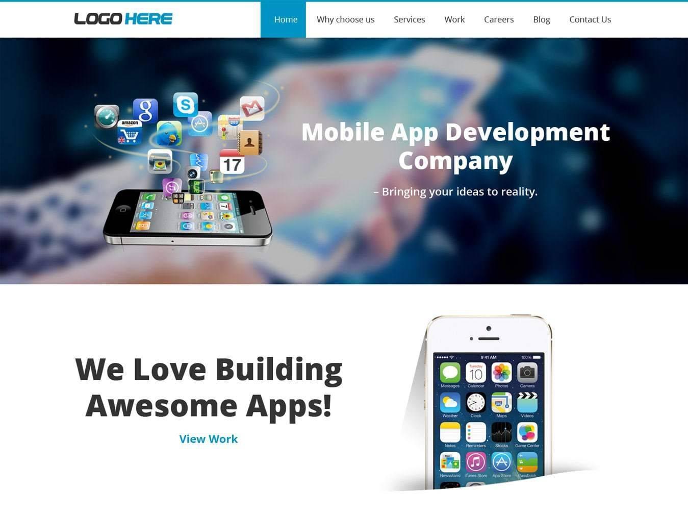 Mobile Website Design Template Psd