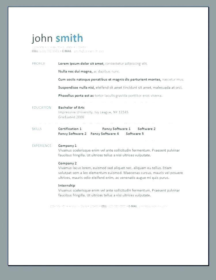 Modern Resume Template Microsoft Word Free Download