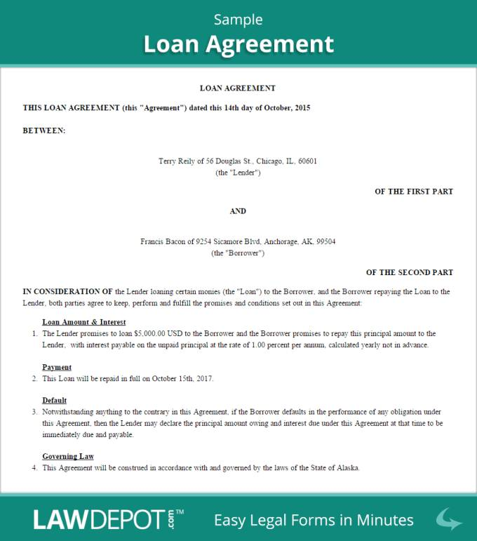 Money Loan Agreement Template Philippines
