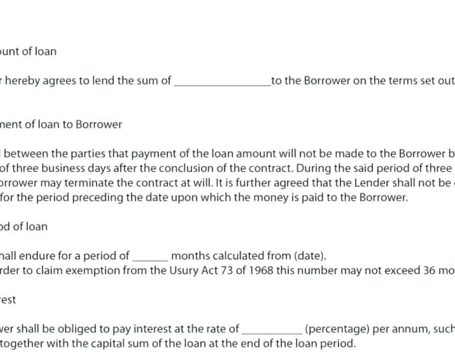 Money Repayment Contract Template