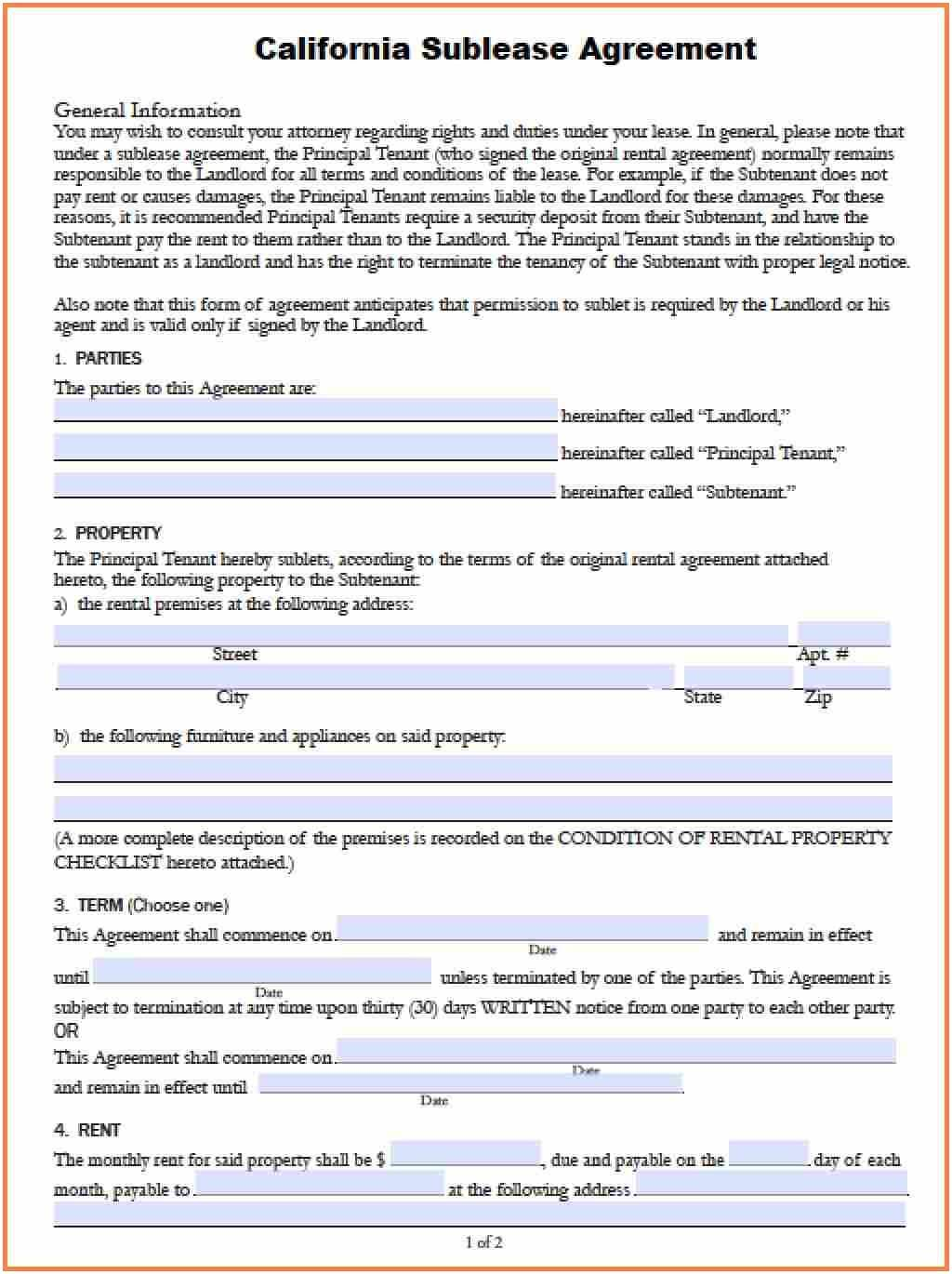 Month To Month Lease Agreement Form Florida