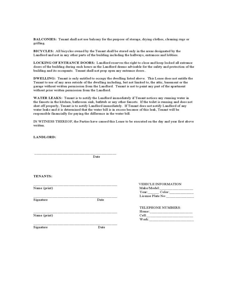 Lease Agreement Forms Texas Templates 110514 Resume