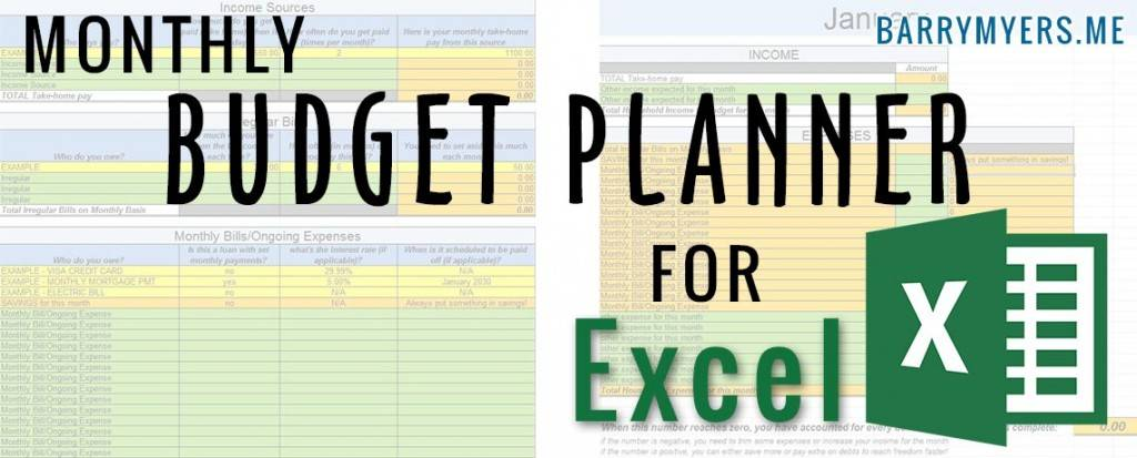 Monthly Planner Excel Template Download