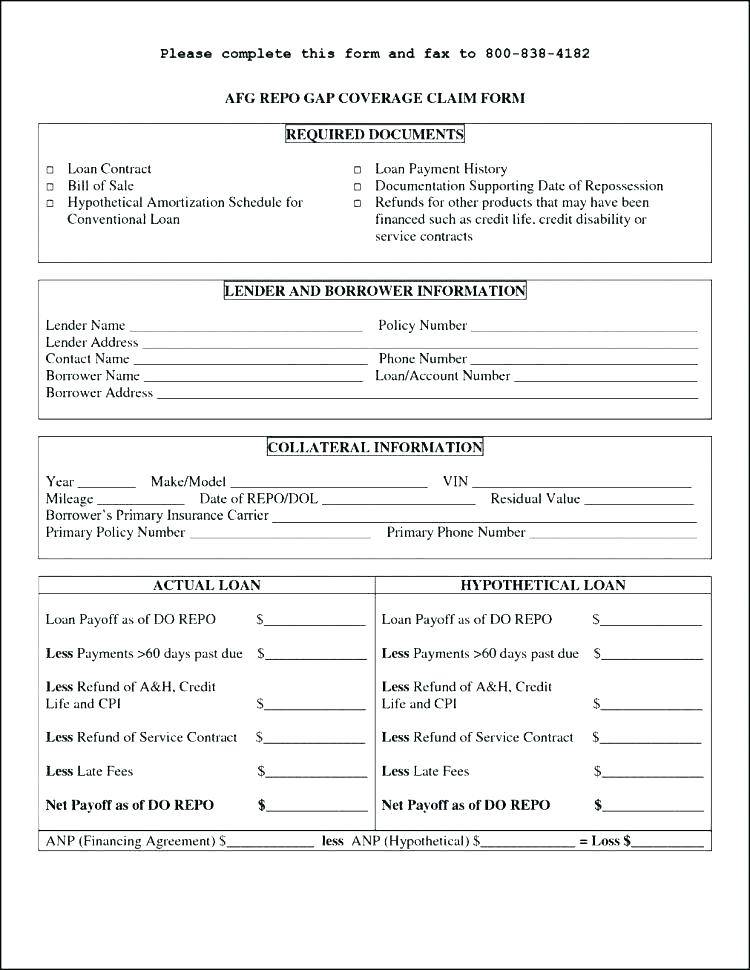 Mortgage Loan Application Form Template