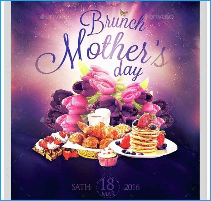 Mother's Day Brunch Flyer Template Free
