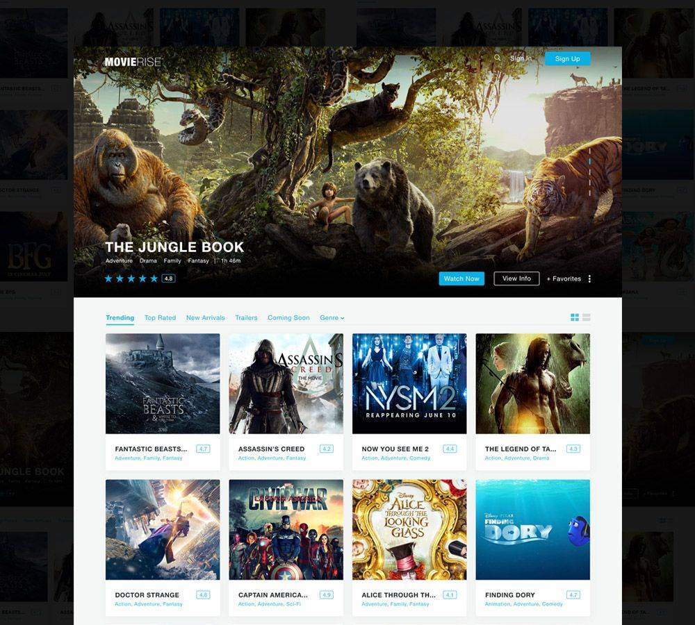 Movie Review Website Template