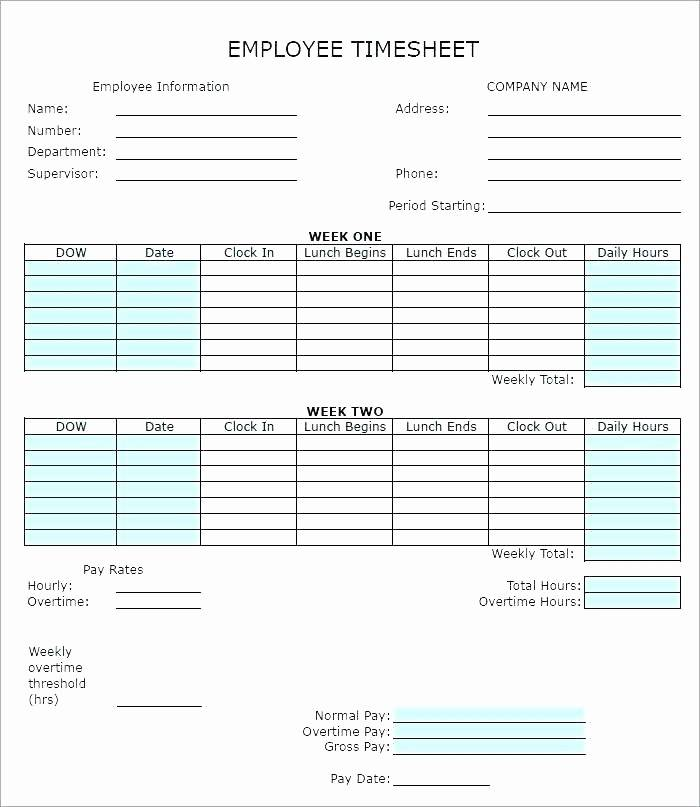Ms Access Timesheet Template Free
