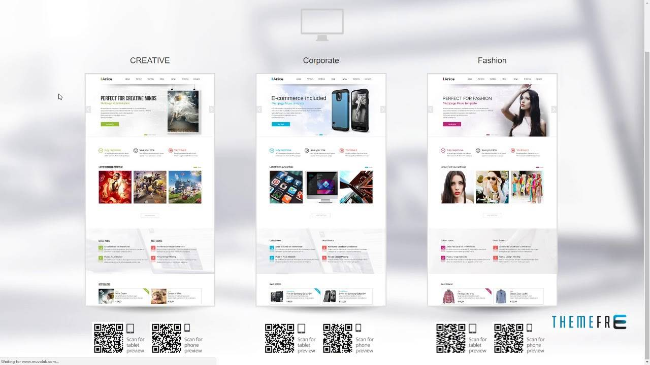 Muse Ecommerce Template