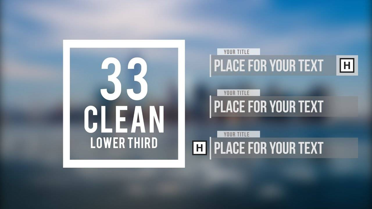 Music Lower Thirds After Effects Template Free