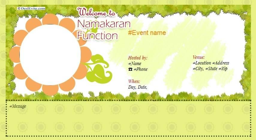 Naming Ceremony Invitation Templates Free