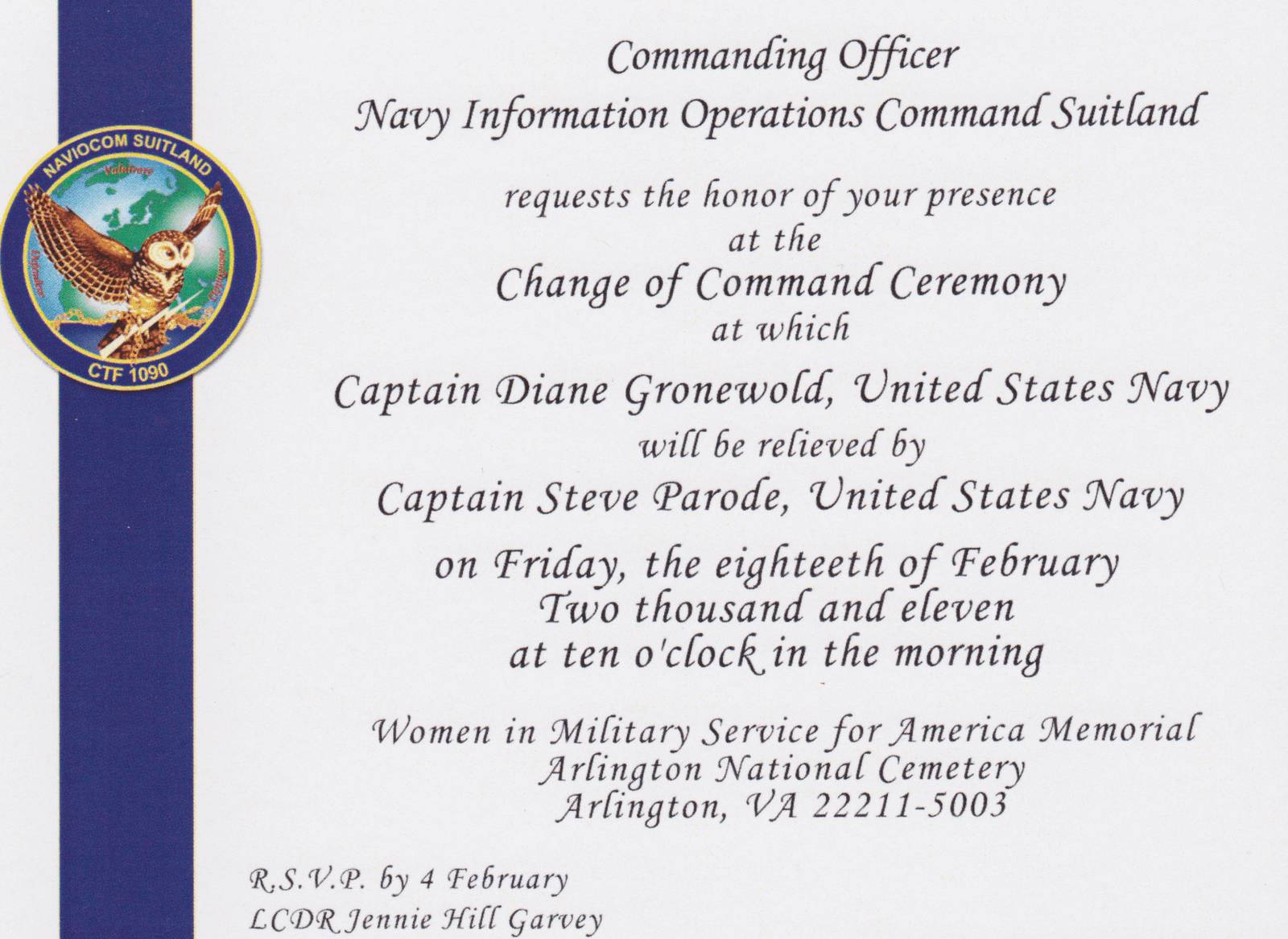 Navy Retirement Ceremony Program Templates