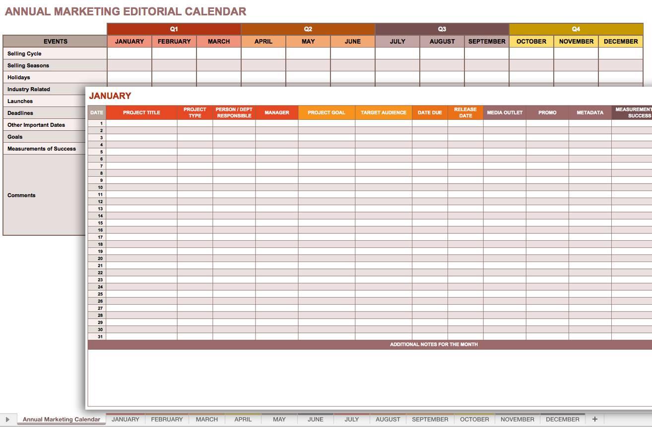 Newsletter Calendar Template
