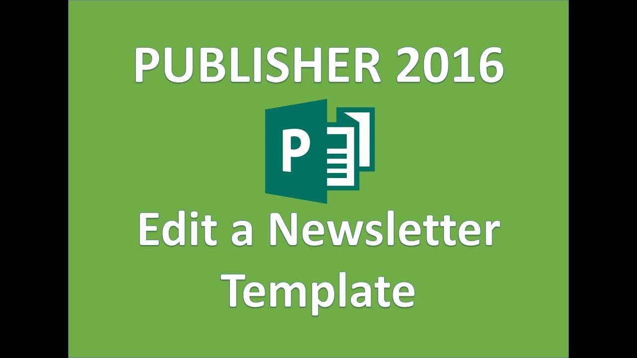 Newsletter Templates Publisher 2016